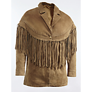 fringe front leather jacket