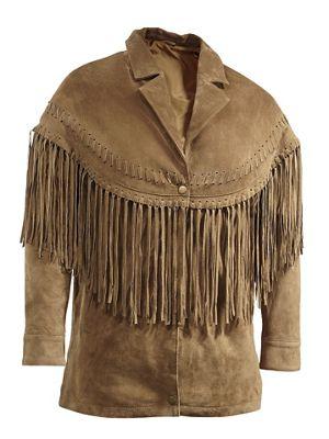 Fringe Front Leather Jacket
