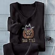 halloween boo ya ll tee