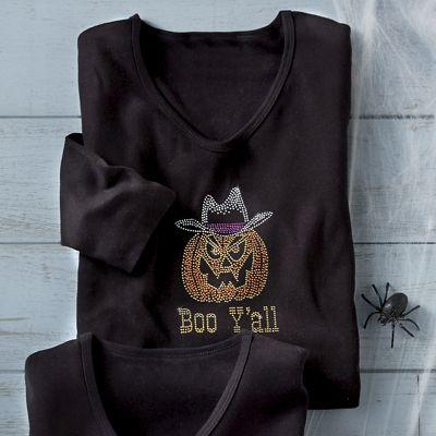 Halloween Boo Ya'Ll Tee