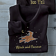 halloween witch and famous tee