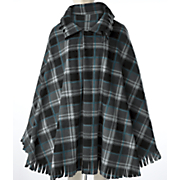 Plaid Poncho Cape