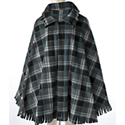 plaid poncho cape 33