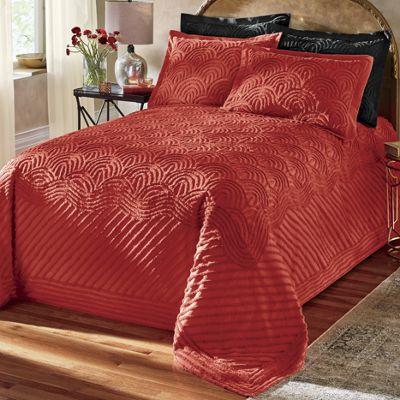 Deco Chenille Bedspread and Shams