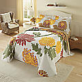 Autumn Garden Chenille Bedspread