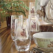 set of 4 whitetail deer drinkware by canterbury