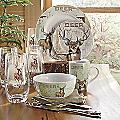 16-Piece Whitetail Deer Dinnerware Set by Canterbury