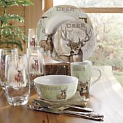 16 pc  whitetail deer dinnerware set by canterbury