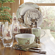 16 pc  whitetail deer dinnerware set by canterbury
