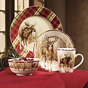 16 pc  winter wilderness dinnerware set by canterbury