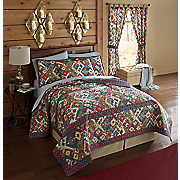 Tahoe Quilt, Shams and Tab Top Panel Pair