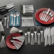 101 pc  mason flatware set by international home