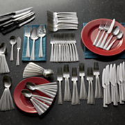 101 pc  mason flatware set by international home