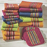 17 pc  sierra multicolor kitchen towel set