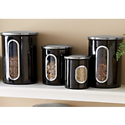4-Piece Window Storage Canister Set