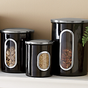 4 pc  window storage canister set