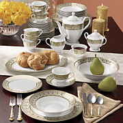 47 pc  georgian medici dinnerware set