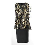 Foil Pattern Dress