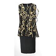 foil pattern dress 54