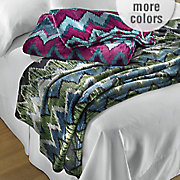 ikat velvet plush blanket