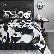Pandamonium Comforter Set, Decorative Pillow and Shower Curtain