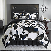 Pandamonium Comforter Set, Decorative Pillow and Shower Curtain
