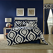brook complete bed set  accent pillows and window treatments