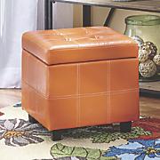 orange storage ottoman 63