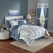 Avery Comforter, Accent Pillow and Window Treatments