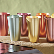 6 pc  assorted harvest aluminum tumbler set