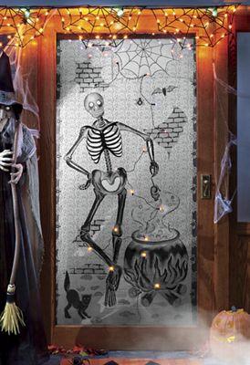 Lighted Halloween Window Panel