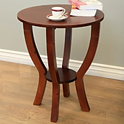 lewis round wood end table