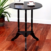 classical round pedestal end table
