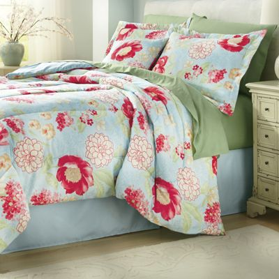 Imperial Floral Comforter Set, Decorative Pillow and Window Treatments