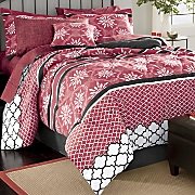 toliver complete bed set  window treatments and decorative pillow
