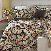 Wedding Ring Bedspread, Decorative Pillow and Window Treatments