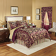 primavera jacquard comforter set  pillows and window treatments