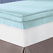 3.5 Inch Sleep Connection Viscose Memory Foam Topper with Smooth Cooling Gel by Montgomery Ward