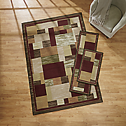 3 pc  relaxed patchwork rug set