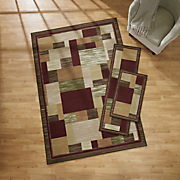 3-Piece Relaxed Patchwork Rug Set