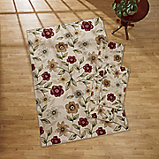 3 pc  fresh floral rug set