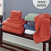 comfort creek 8 pc  chenille towel set by montgomery ward