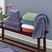 comfort creek 8 pc  chenille towel set by montgomery ward