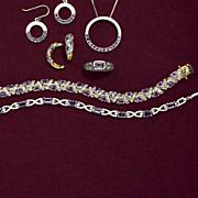trillion cut amethyst bracelet