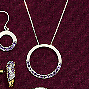 circle amethyst pendant