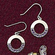 circle amethyst earrings