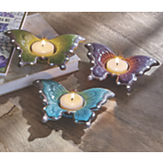 Set of 3 Butterfly Tea Candle Holders
