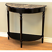 Marble-Look Console Table