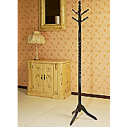 twist style swiveling cherry hat and coat rack