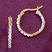 Small In/Out Hoop Earrings